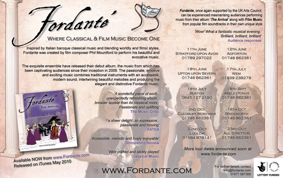 Fordante Classical Music advert