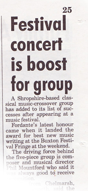 Fordante in Shropshire Star